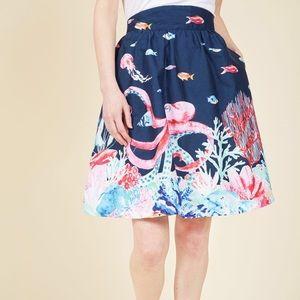 ModCloth octopus style study skirt, medium